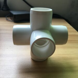 5 way Pvc fitting cross furniture grade(sch40 pvc fitting side outlet cross)