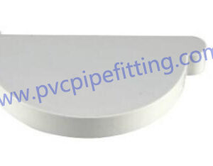 110mm pvc gutter end cap right
