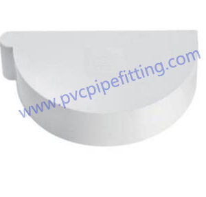170MM PVC GUTTER End cap left