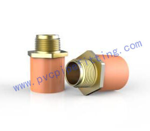 CPVC FITTING MALE ADAPTOR WITH BRASS THREADED ASTM Fire Sprinkler