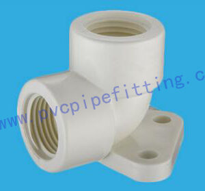 PVC BSP THREADABLE FITTING ELBOW WITH PLATE