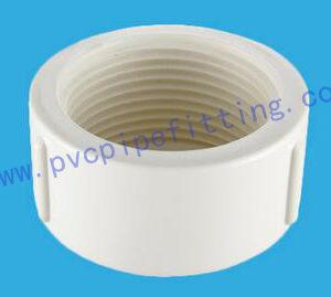 PVC BSP THREADABLE FITTING END CAP