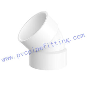 SCHEDULE 40 PVC DWV FITTING 45 DEG VENT ELBOW(ASTM D2665)