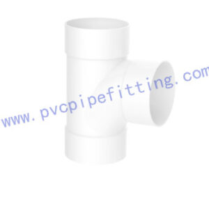 SCHEDULE 40 PVC DWV FITTING SANITARY TEE (ASTM D2665)