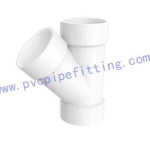 SCHEDULE 40 PVC DWV FITTING WYE TEE (ASTM D2665)