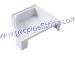 pvc gutter right end cap