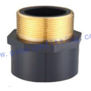SCHEDULE 80 PVC FITTING Male Adaptor with Brass