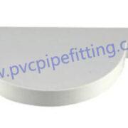 110mm pvc gutter end cap right
