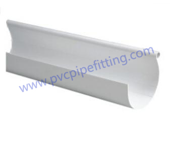 110mm Half Round Pvc Rain Gutter Pvc Fitting Factory