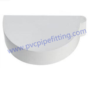 170MM PVC GUTTER End cap right