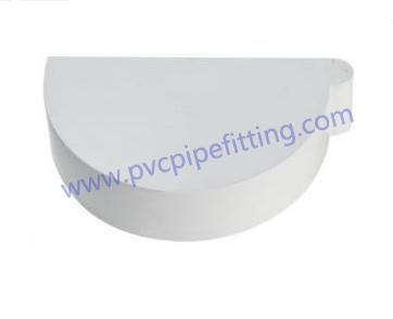 170MM PVC GUTTER End cap right