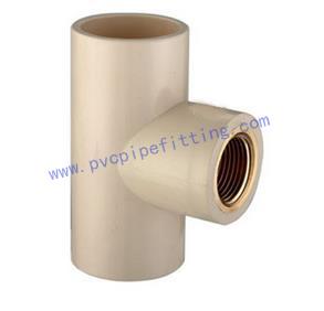 CPVC ASTM D2846 Female tee (copper thread)