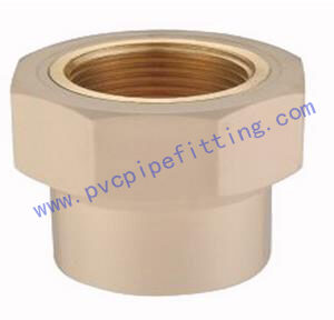 CPVC DIN FITTING FEMALE ADAPTER WITH BRASS THREADED
