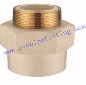 CPVC DIN FITTING MALE ADAPTER WITH BRASS THREADE