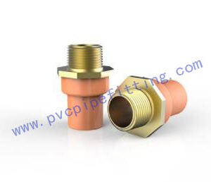 CPVC FITTING MALE ADAPTOR WITH BRASS THREADED I ASTM Fire Sprinkler