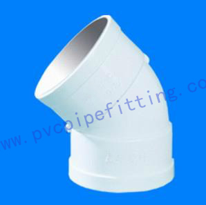 GB PVC DWV FITTING 45 DEG ELBOW