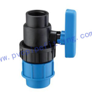 PP Compression FITTING FEMALE TRUE UNION BALL VALVE