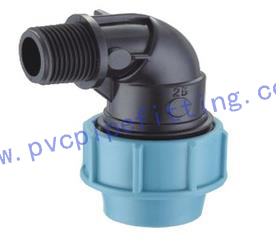 PP Compression FITTING MALE ELBOW