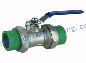 PPR FITTING BRASS BALL VALVE WITH DOUBLE UNION