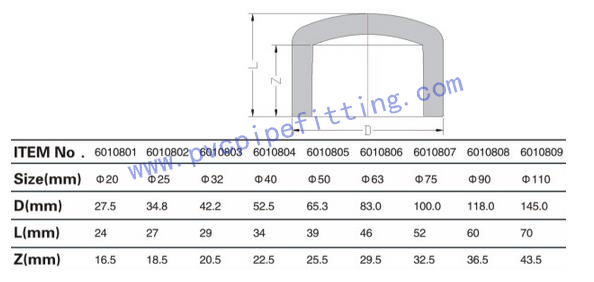 PPR FITTING END CAP SIZE