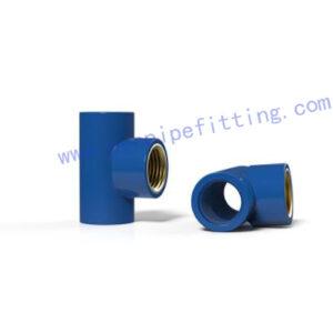PVC BSP THREADABLE FITTING TEE(BRASS)
