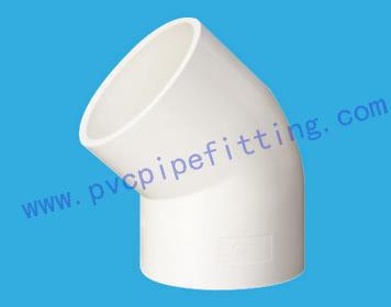 PVC FITTING 45 DEG ELBOW DIN