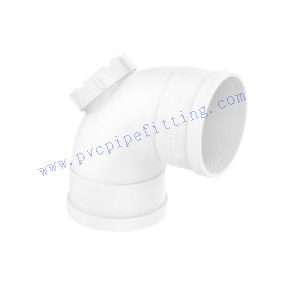 PVC FITTING 90 DEG ELBOW WITH CLEANOUT