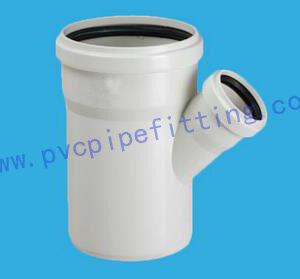 PVC Gasketed FITTING REDUCING SKEW TEE WITH SOCKET