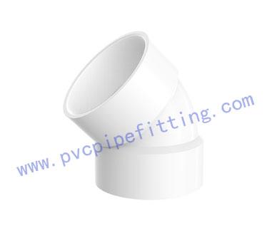 SCHEDULE 40 PVC DWV FITTING 45 DEG VENT ELBOW(ASTM D2665)