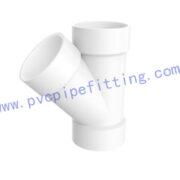 SCHEDULE 40 PVC DWV FITTING WYE TEE (ASTM D2665)