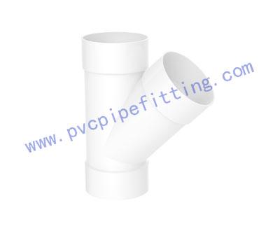SCHEDULE 40 PVC DWV FITTING Y TEE (ASTM D2665)