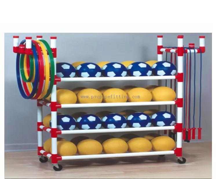 4-way-pvc-pipe-fitting-Ball-rack