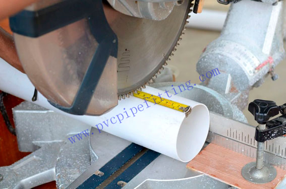 Cutting pvc pipe with a hacksaw