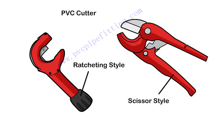 Use a pipe cutter to cut pvc pipe