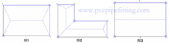 PVC drain system catchment calculation and downspout location