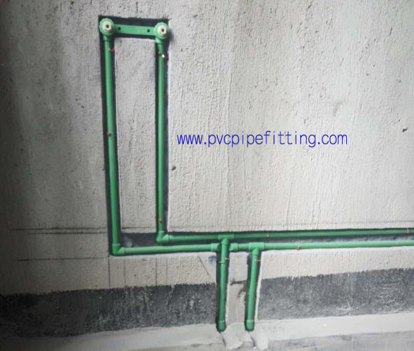PPR FITTING DOUBLE FEMALE THREADED BRASS ELBOW installation drawing